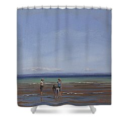 After The Walk II Shower Curtain