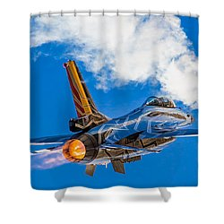 Afterburn Shower Curtain by Ian Schofield