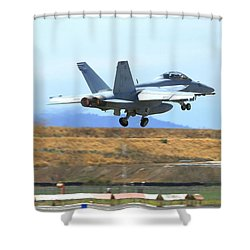 Afterburner On Gear Up Shower Curtain
