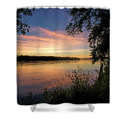 Shower Curtain featuring the photograph Afterglow by Cricket Hackmann