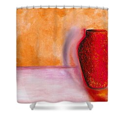Shower Curtain featuring the painting Afterglow by Marlene Book