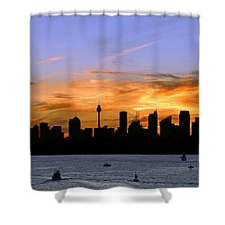 Afterglow Shower Curtain