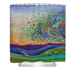 Afterglow - This Beautiful Life Shower Curtain