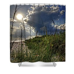 Shower Curtain featuring the photograph Afternoon At A Sanibel Dune by Chrystal Mimbs