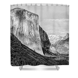 Shower Curtain featuring the photograph Afternoon At El Capitan by Sandra Bronstein