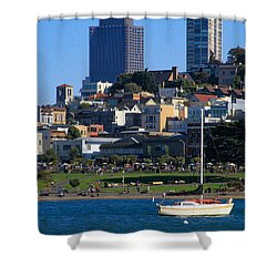 Afternoon At Maritime Park Shower Curtain