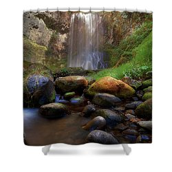 Afternoon Delight At Upper Bridal Veil Falls Shower Curtain by David Gn