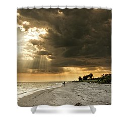 Shower Curtain featuring the photograph Afternoon Fishing On Sanibel Island by Chrystal Mimbs