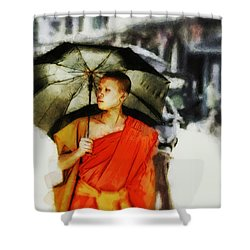 Shower Curtain featuring the digital art Afternoon In Luang Prabang by Cameron Wood