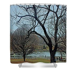 Afternoon In The Park Shower Curtain by Sandy Moulder