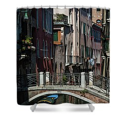 Shower Curtain featuring the photograph Afternoon In Venice by Alex Lapidus