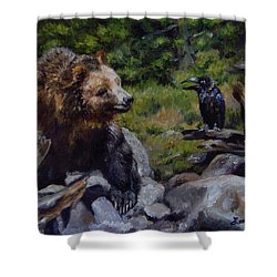 Afternoon Neigh-bear Shower Curtain