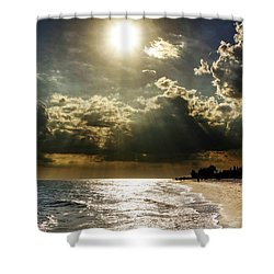 Afternoon On Sanibel Island Shower Curtain by Chrystal Mimbs