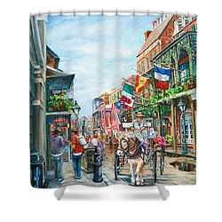 Afternoon On St. Ann Shower Curtain
