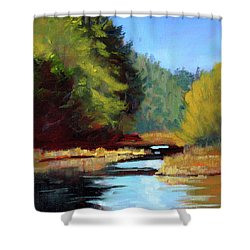 Afternoon On The River Shower Curtain