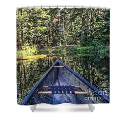 Afternoon Paddle Shower Curtain by William Wyckoff