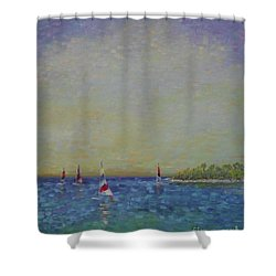 Afternoon Sailing Shower Curtain by Gail Kent