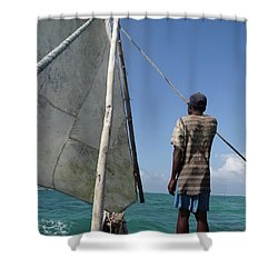 Afternoon Sailing In Africa Shower Curtain