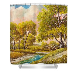 Afternoon Shade Shower Curtain