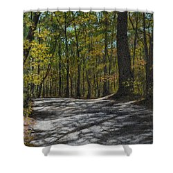 Afternoon Shadows - Oconne State Park Shower Curtain by Kathleen McDermott