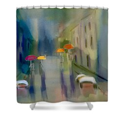 Afternoon Shower In Old San Juan Shower Curtain by Frank Bright