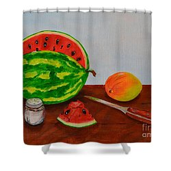 Afternoon Summer Treat Shower Curtain
