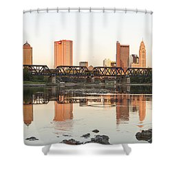 Afternoon Sun Columbus Shower Curtain