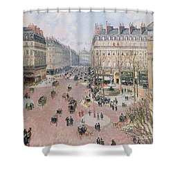 Afternoon Sun In Winter Shower Curtain by Camille Pissarro