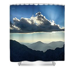 Afternoon Sunburst Shower Curtain