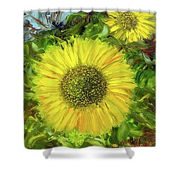 Afternoon Sunflowers Shower Curtain