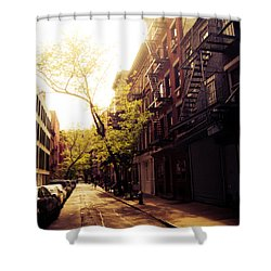 Afternoon Sunlight On A New York City Street Shower Curtain by Vivienne Gucwa