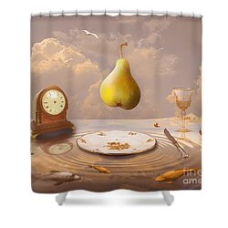 Shower Curtain featuring the drawing Afternoon Tea by Alexa Szlavics