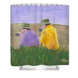 Shower Curtain featuring the painting Afternoon Tea by Patricia Cleasby