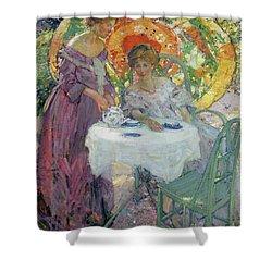 Afternoon Tea Shower Curtain by Richard Edward Miller