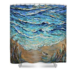 Afternoon Tide Shower Curtain