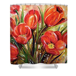 Afternoon Tulips Shower Curtain