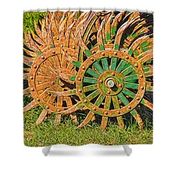 Ag Machinery Starburst Shower Curtain