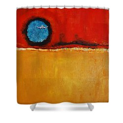 Blue Moon In Your Eye Shower Curtain by Jean Cormier