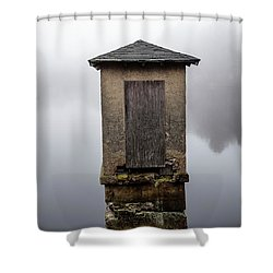 Shower Curtain featuring the photograph Against The Fog by Karol Livote
