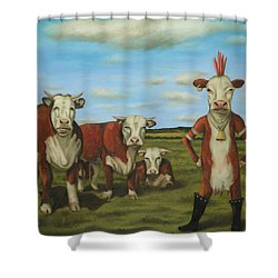Against The Herd Shower Curtain by Leah Saulnier The Painting Maniac