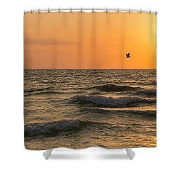 Against The Wind Shower Curtain by Christopher L Thomley