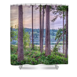Agate Passage View Shower Curtain