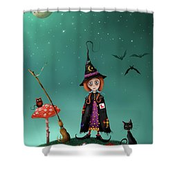 Agatha And Angus, Learning To Fly Shower Curtain