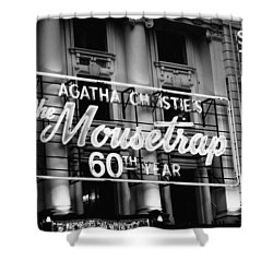 Agatha Christie's The Mouse Trap 60th Anniversary Shower Curtain by Helga Novelli