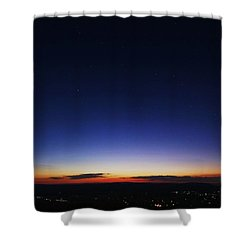 Age Is Opportunity Shower Curtain by Mitch Cat