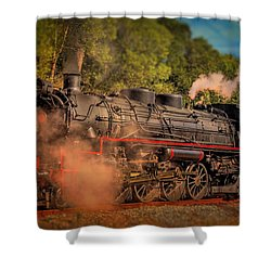 Shower Curtain featuring the photograph Age Of Steam 3 by Wallaroo Images