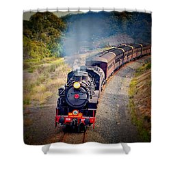 Shower Curtain featuring the photograph Age Of Steam by Wallaroo Images