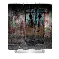 Aged And Erie Door Shower Curtain