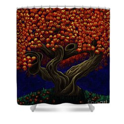 Aged Autumn Shower Curtain
