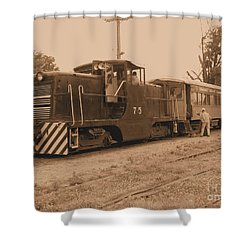 Aged Choo Choo  Shower Curtain